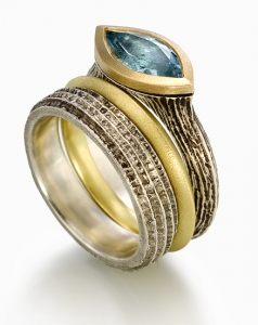 Earth Elements with Blue Topaz Set by Susan Barth