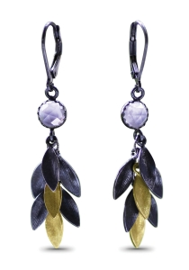 Small Feather Earrings by Jamie Cassavoy
