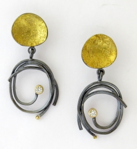 Pebble Scribble Earrings by  Sydney Lynch