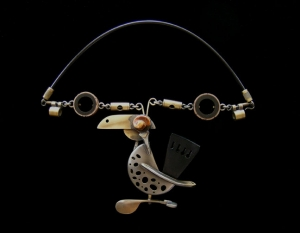 Dodo Quintet Necklace by Lisa And Scott Cylinder