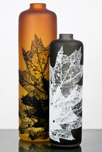 Leaf Vessels in Fall Tones by Nick Chase