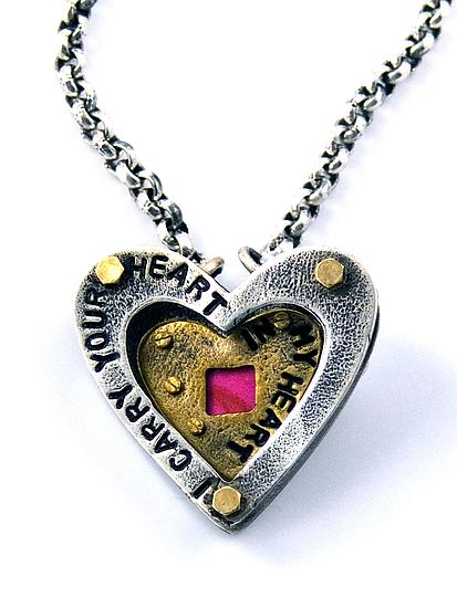 I Carry Your Heart Necklace by Beth Taylor