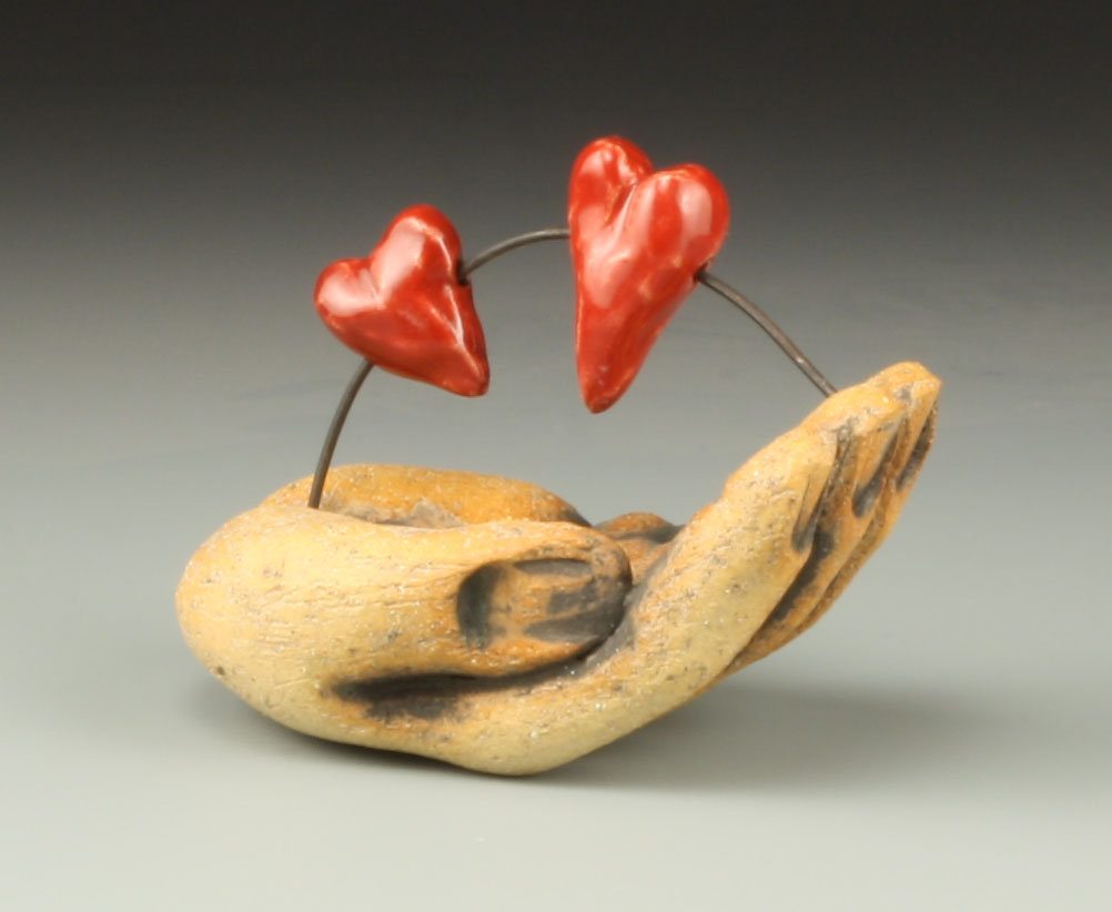 Two Hearts in Hand by Cathy Broski