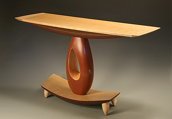 Teardrop Hall Table by Derek Secor Davis