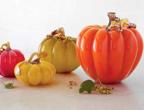 enchanting art glass pumpkins