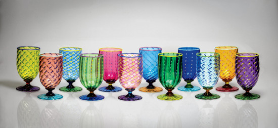 Tutti Frutti Water Glasses II by Robert Dane