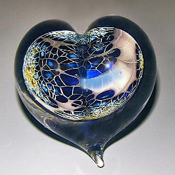 Galaxy Heart Paperweight by Robert Burch