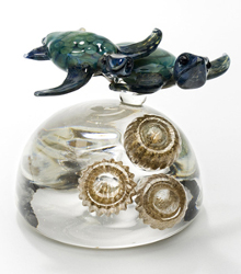 Turtles (art glass paperweight) by Jennifer Umphress
