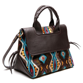 Virginia Embroidered Leather Bag by Maliparmi available at Artful Home