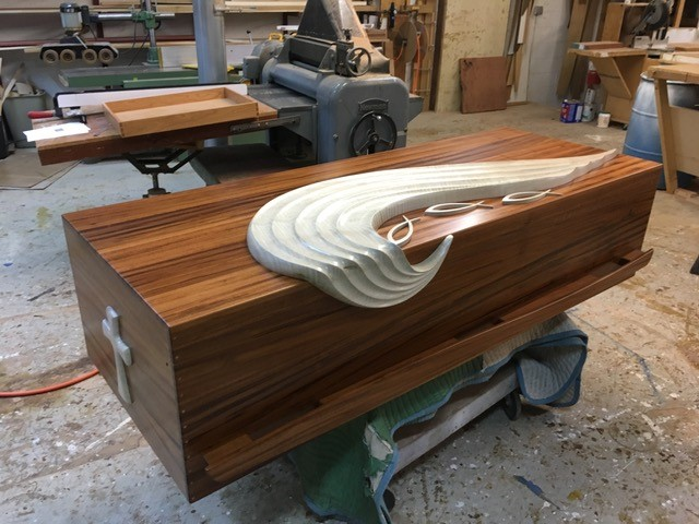finished custom casket